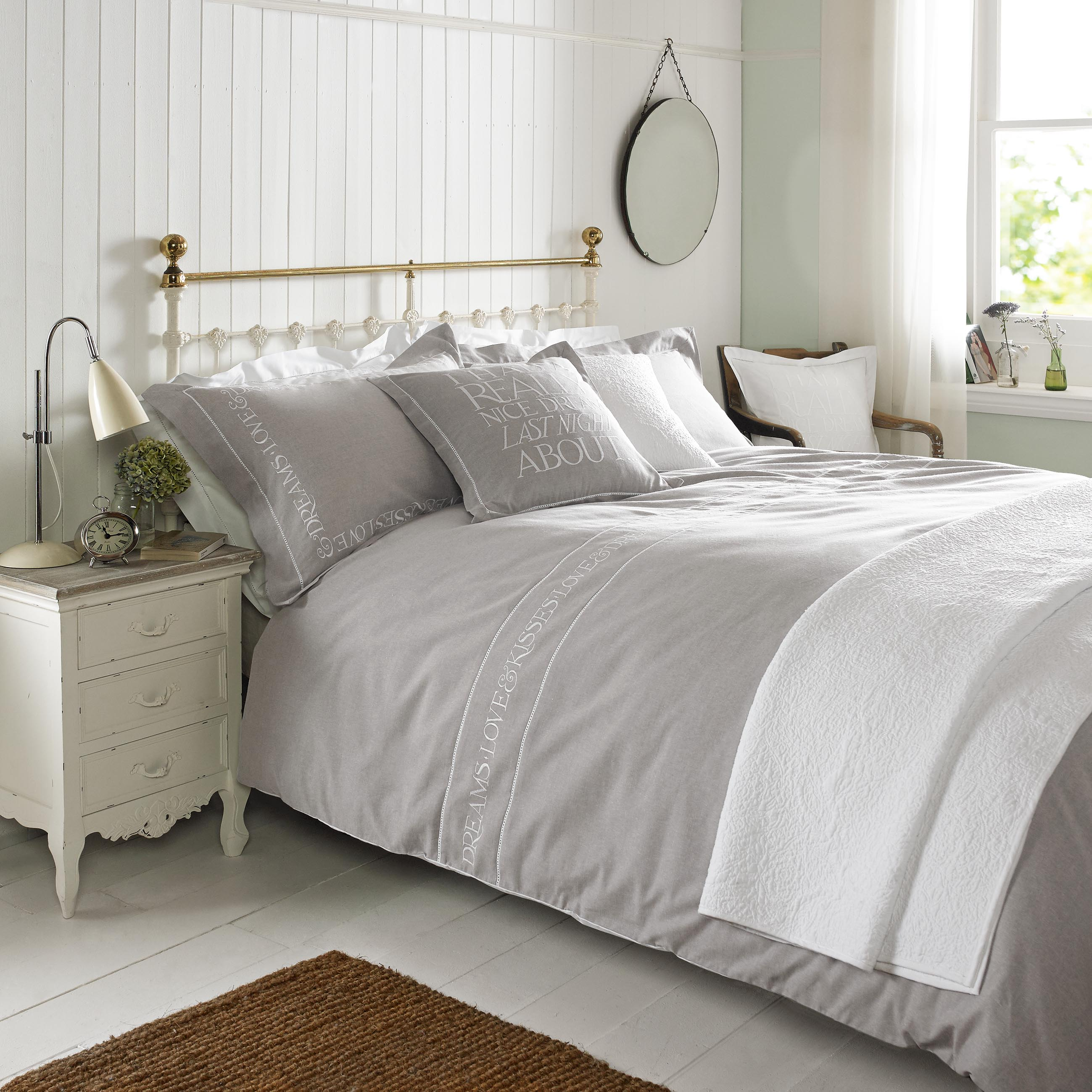 Embroidered Natural Bed Linen By Emma Bridgewater House